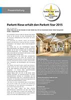 Der Parkett Riese – Pressemitteilung 01-2015 (Cover)
