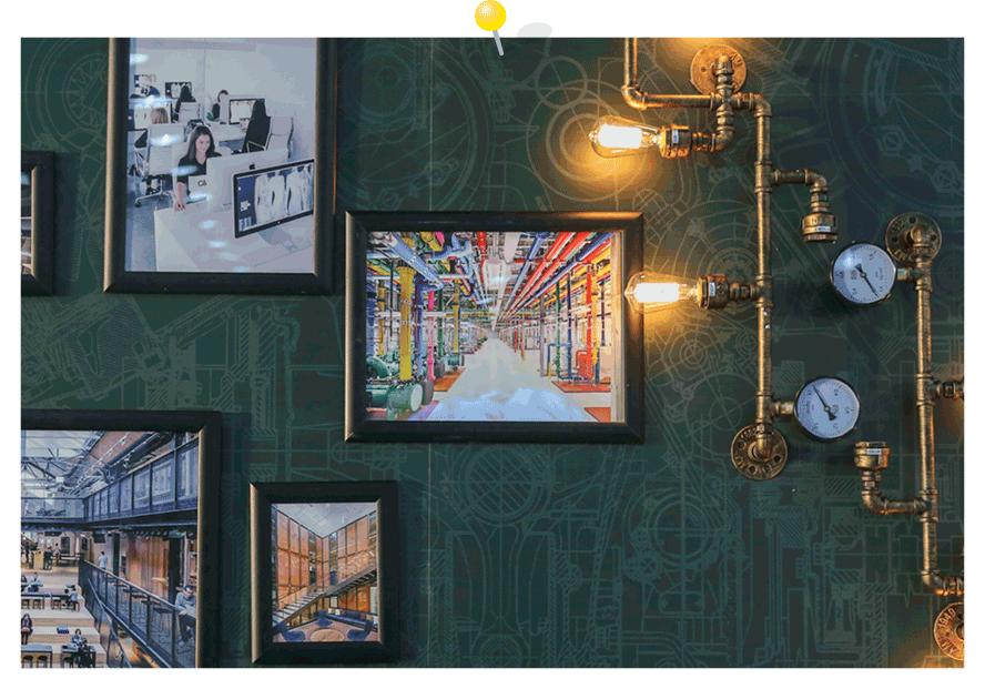 Wand-Deko Idee Industrieller Stil