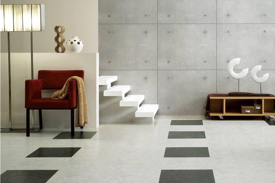 DESIGNVINYL Vinylboden Steindekore Loft Grey und Loft Black